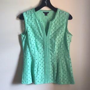 Banana Republic Mint-Green Sleeveless Blouse